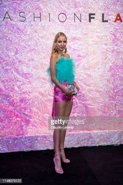 Leonie Hanne attends during the Huawei Fashion Flair event on May 09 2019 in Milan Italy