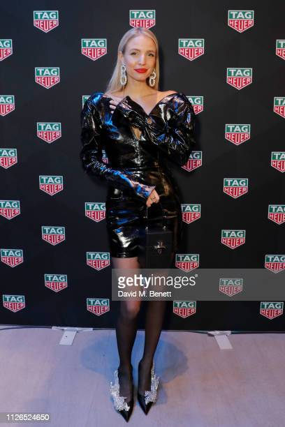 Leonie Hanne attends TAG Heuer and art provocateur Alec Monopoly launch event celebrating special edition watches on January 31 2019 in London England
