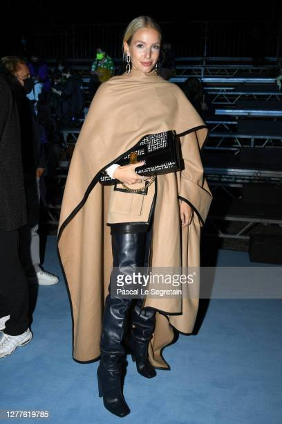 Leonie Hanne attends the Balmain Womenswear Spring/Summer 2021 show as part of Paris Fashion Week on September 30, 2020 in Paris, France.