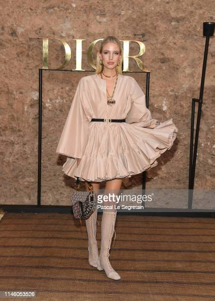 Leonie Hanne attends the Christian Dior Couture S/S20 Cruise Collection on April 29 2019 in Marrakech Morocco