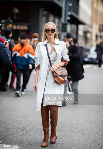 Leonie Hanne attends the Ermanno Scervino show at Milan Fashion Week Autumn/Winter 2019/20 on February 23 2019 in Milan Italy