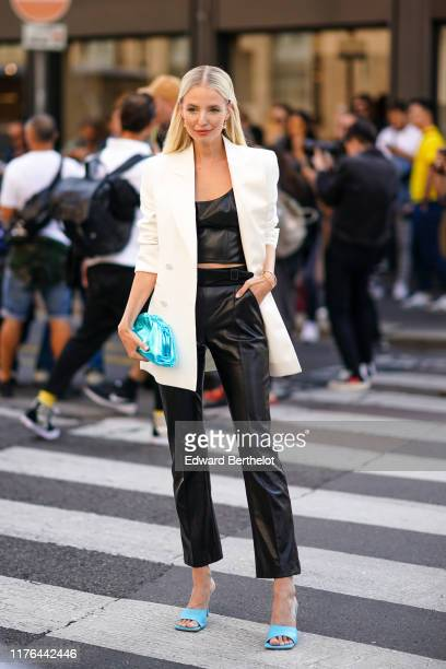 Leonie Hanne attends the Ermanno Scervino show at Milan Fashion Week Spring Summer 2020 on September 21, 2019 in Milan, Italy.