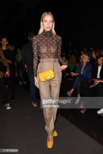 Leonie Hanne attends the Fendi fashion show during the Milan Fashion Week Spring/Summer 2020 on September 19 2019 in Milan Italy