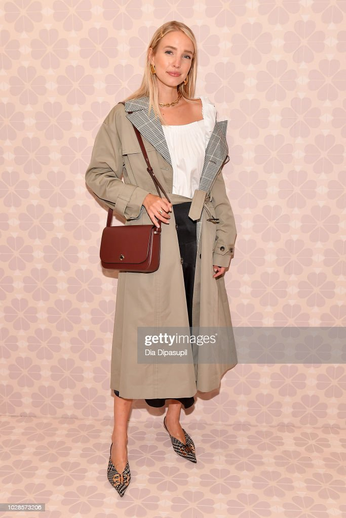 Leonie Hanne attends the Kate Spade New York Fashion Show during New York Fashion Week at New York Public Library on September 7, 2018 in New York City.