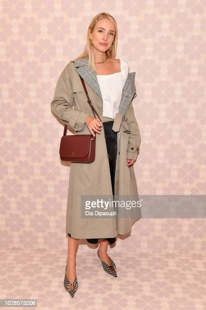 Leonie Hanne attends the Kate Spade New York Fashion Show during New York Fashion Week at New York Public Library on September 7, 2018 in New York...