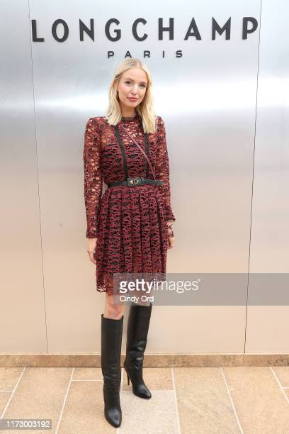 Leonie Hanne attends the Longchamp SS20 Runway Show at Hearst Plaza, Lincoln Center on September 07, 2019 in New York City.