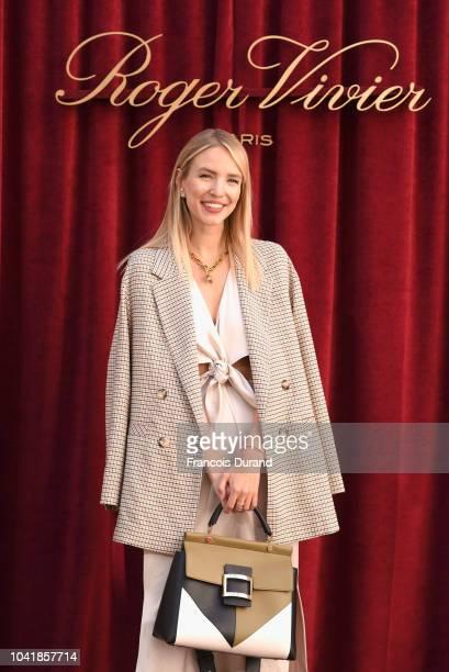 Leonie Hanne attends the Roger Vivier Presentation Spring/Summer 2019 during Paris Fashion Week on September 27 2018 in Paris France