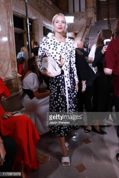 Leonie Hanne attends the SelfPortrait front row during New York Fashion Week The Shows on September 07 2019 in New York City