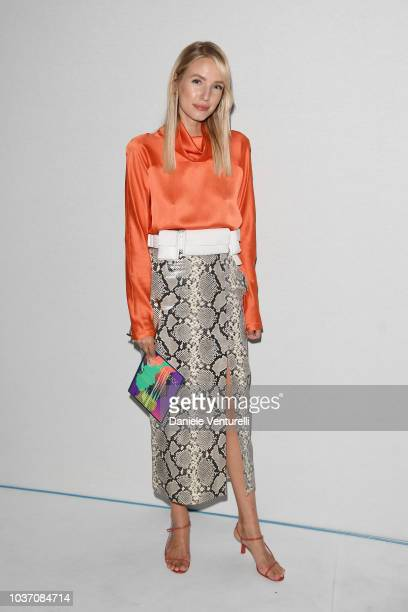 Leonie Hanne attends the Sportmax show during Milan Fashion Week Spring/Summer 2019 on September 21 2018 in Milan Italy