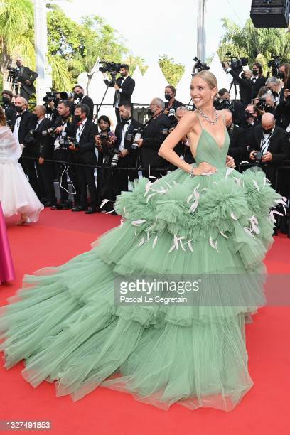 """Leonie Hanne attends the """"Tout S'est Bien Passe """" screening during the 74th annual Cannes Film Festival on July 07, 2021 in Cannes, France."""