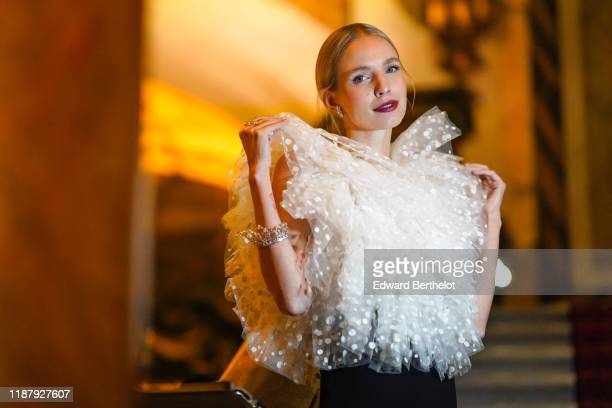 Leonie Hanne attends Vogue Fashion Festival Photocall At Hotel Potocki In Paris on November 15, 2019 in Paris, France.