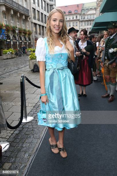 Leonie Hanne Blogger influencer during the 'Fruehstueck bei Tiffany' at Tiffany Store ahead of the Oktoberfest on September 16 2017 in Munich Germany