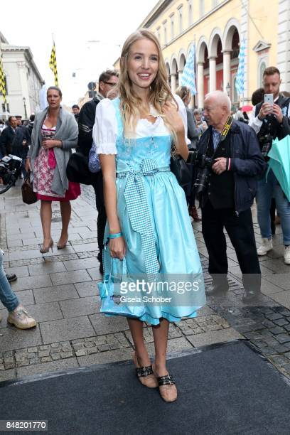 Leonie Hanne, Blogger, influencer, during the 'Fruehstueck bei Tiffany' at Tiffany Store ahead of the Oktoberfest on September 16, 2017 in Munich,...