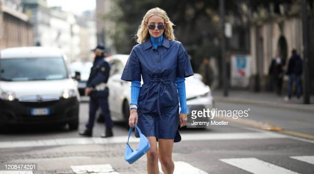 Leonie Hanne is seen before Sportmax during Milan Fashion Week Fall/Winter 20202021 on February 21 2020 in Milan Italy