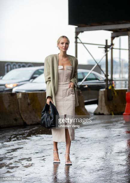 Leonie Hanne is seen outside Dion Lee during New York Fashion Week Fall / Winter on February 10 2020 in New York City