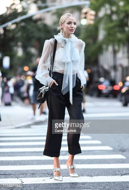 Leonie Hanne is seen wearing a Marc Jacobs outfit outside the Marc Jacobs show during New York Fashion Week S/S20 on September 11 2019 in New York...