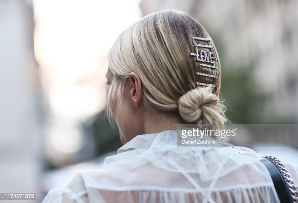 Leonie Hanne is seen wearing headpiece accessories outside the Marc Jacobs show during New York Fashion Week S/S20 on September 11 2019 in New York...