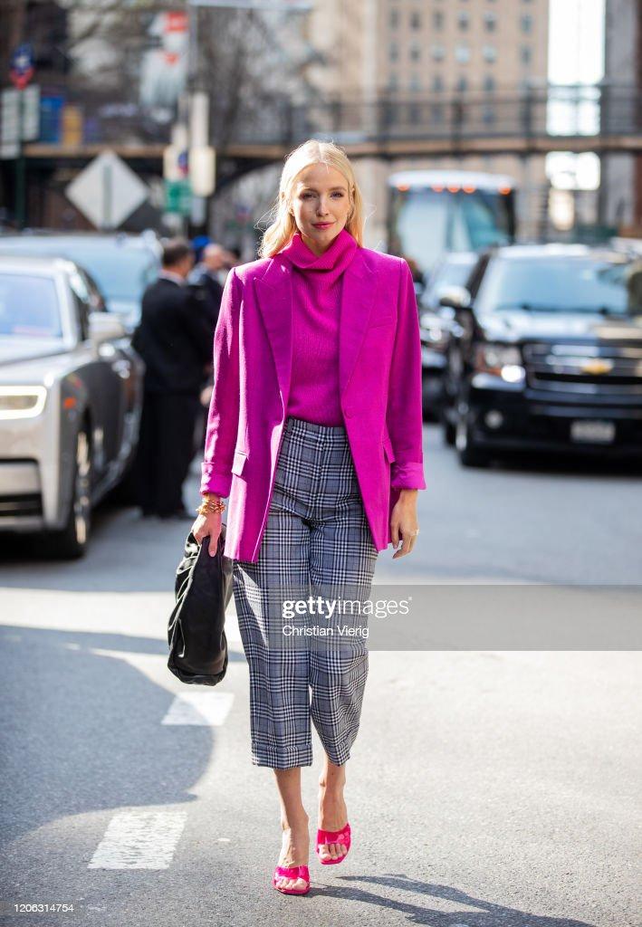 Street Style - Day 7 - New York Fashion Week February 2020 : News Photo