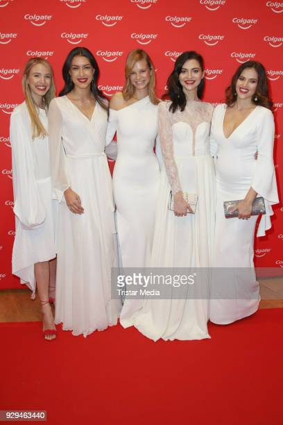 Leonie Hanne Rebecca Mir Nadine Leopold Fata Hasanovic and Hana Nitsche during the Colgate White Night at Apartimentum on March 8 2018 in Hamburg...