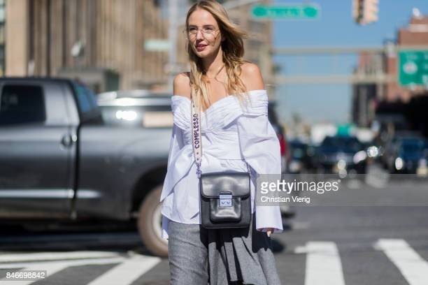 Leonie Hanne seen in the streets of Manhattan outside Michael Kors during New York Fashion Week on September 13 2017 in New York City