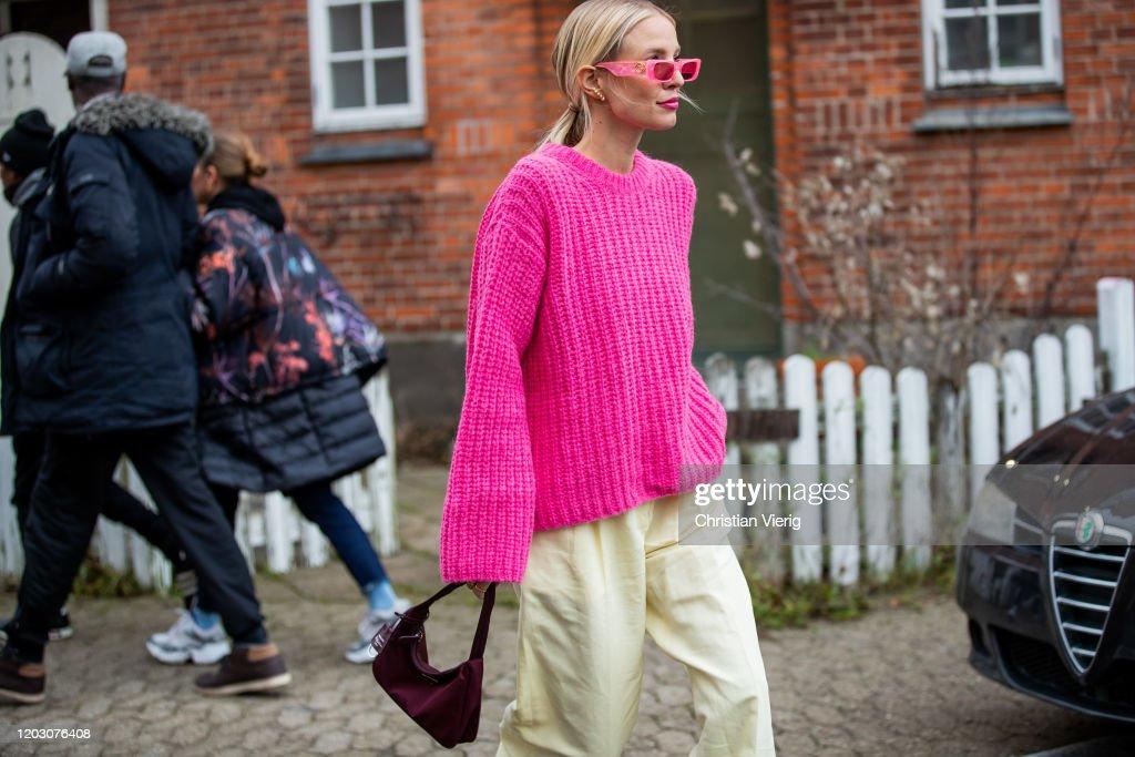Street Style - Day 3 - Copenhagen Fashion Week Autumn/Winter 2020 : News Photo