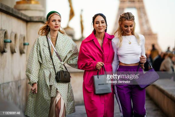Leonie Hanne Tamara Kalinic Noor De Groot are seen outside Rochas during Paris Fashion Week Womenswear Fall/Winter 2019/2020 on February 27 2019 in...