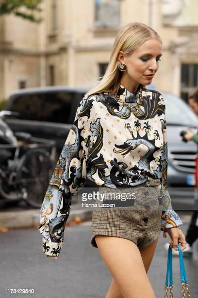 Leonie Hanne wearing Miu Miu outside Miu Miu during Paris Fashion Week Womenswear Spring Summer 2020 on October 01, 2019 in Paris, France.