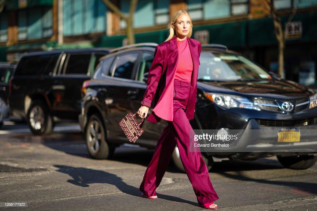 Street Style - Day 4 - New York Fashion Week February 2020 : News Photo