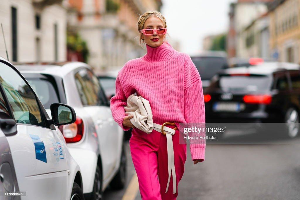 Street Style: September 22 - Milan Fashion Week Spring/Summer 2020 : Photo d'actualité