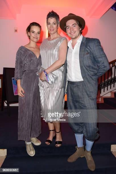 Leonie Landa Cheryl Shepard and Frederic Boehle attend the Studio Hamburg Nachwuchspreis on June 6 2018 in Hamburg Germany