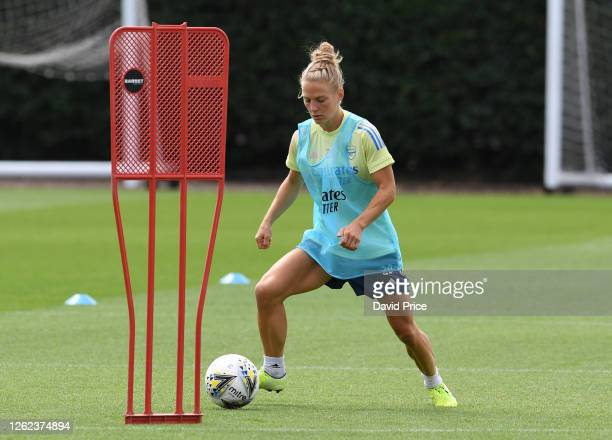 Leonie Maier of Arsenal during the Arsenal Women training session at Arsenal Academy on July 29 2020 in Walthamstow England