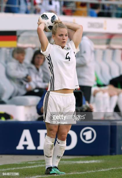 Leonie Maier of Germany controls the ball during the 2019 FIFA Womens World Championship Qualifier match between Germany Womens and Czech Republic...