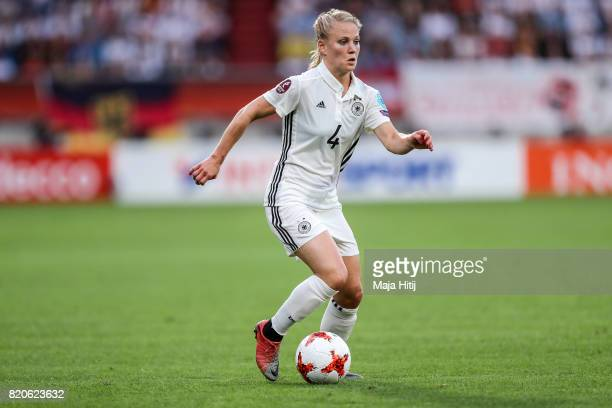 Leonie Maier of Germany controls the ball during the UEFA Women's Euro 2017 at Koning Willem II Stadium on July 21 2017 in Tilburg Netherlands