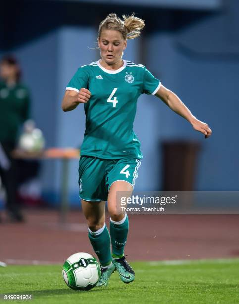 Leonie Maier of Germany in action during the 2019 FIFA Women's World Championship Qualifier match between Czech Republic Women's and Germany Women's...