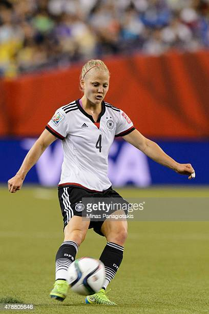 Leonie Maier of Germany plays the ball during the 2015 FIFA Women's World Cup quarter final match against France at Olympic Stadium on June 26 2015...