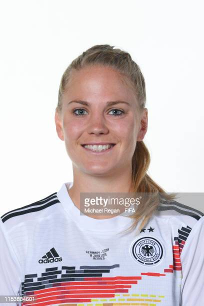 Leonie Maier of Germany poses for a portrait during the official FIFA Women's World Cup 2019 portrait session at Domaine de CiceBlossac on June 05...