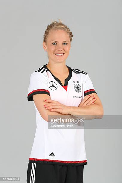 Leonie Maier of the German women's national football team poses during the team presentation on June 21 2016 in Grassau Germany