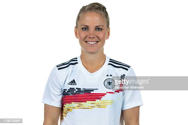Leonie Maier poses during the DFB Women's Marketing Days on March 04 2019 in Munich Germany