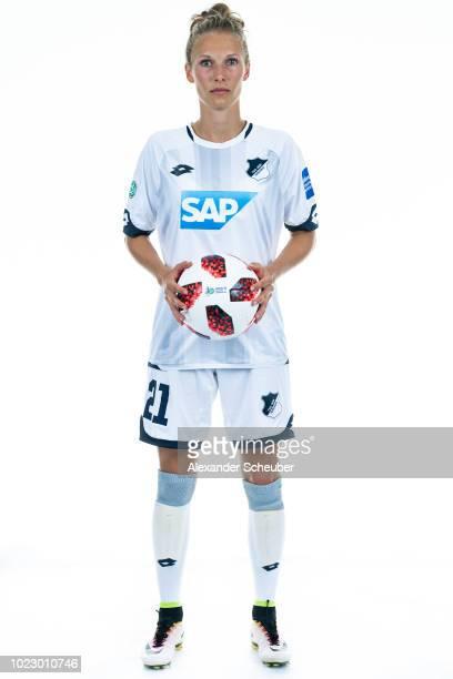 Leonie Pankratz of Hoffenheim poses during the TSG Hoffenhheim Women's team presentation on AUGUST 23 2018 in St LeonRot Germany