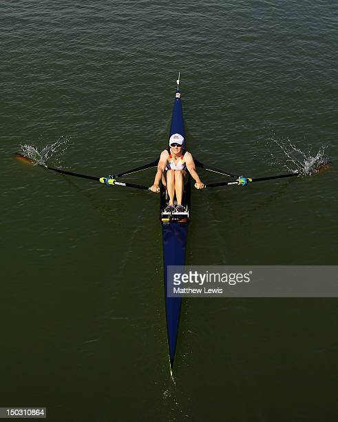 Leonie Pless of Germany competes in the Women's Lightweight Single Sculls during day one of the FISA Rowing World Senior Junior Championships at...