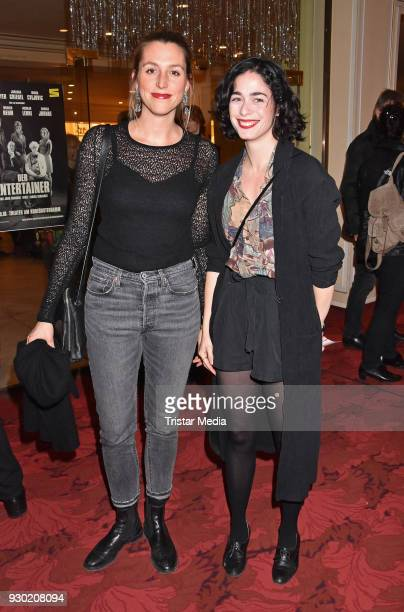 Leonie Seifert and Patrizia Carlucci attend the premiere 'Der Entertainer' on March 10 2018 in Berlin Germany