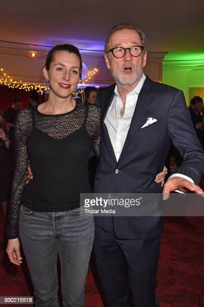 Leonie Seifert and Peter Lohmeyer attend the premiere 'Der Entertainer' on March 10 2018 in Berlin Germany
