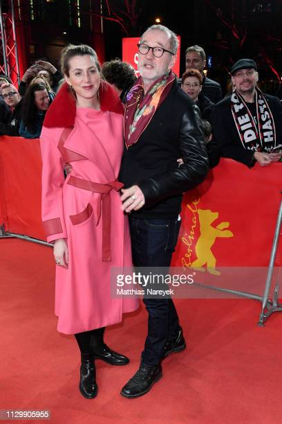 Leonie Seifert and Peter Lohmeyer pose at the You Only Live Once Die Toten Hosen On Tour premiere during the 69th Berlinale International Film...