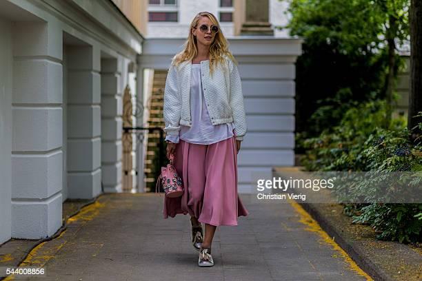 Leonie Sophie Hanne outside Marina Hoermanseder during the MercedesBenz Fashion Week Berlin Spring/Summer 2017 on June 30 2016 in Berlin Germany