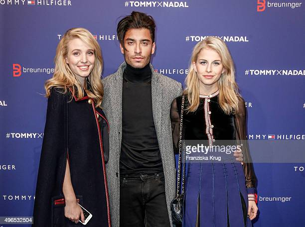 Leonie Sophie Hanne Toni Mahfud and Caro Daur attend the Tommy Hilfiger X Rafael Nadal @ Breuninger on November 10 2015 in Stuttgart Germany