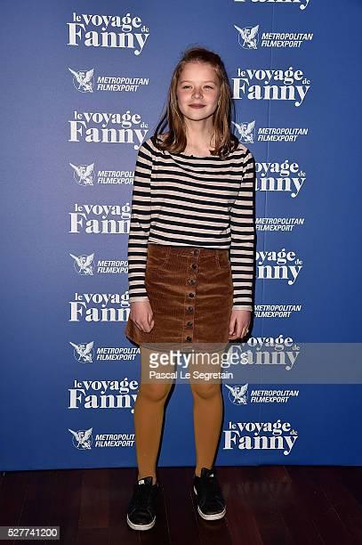 Leonie Souchaud attends the film Premiere of 'Le Voyage de Fanny' on May 03 2016 in Paris
