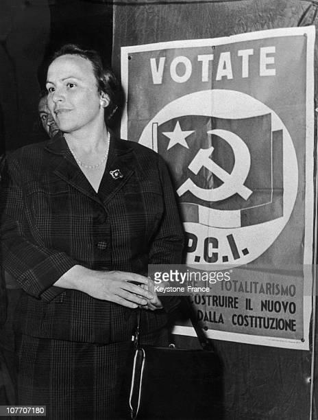 Leonilde Iotti Wife Of The Italian Communist Leader Palmiro Togliatti In Bologne On May 10Th 1958