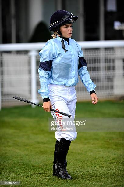 Leonna Mayor poses at Goodwood racecourse on August 02 2012 in Chichester England