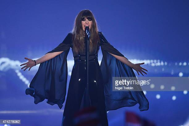 Leonor Andrade of Portugal performs on stage during the second Semi Final of the Eurovision Song Contest 2015 on May 21 2015 in Vienna Austria The...