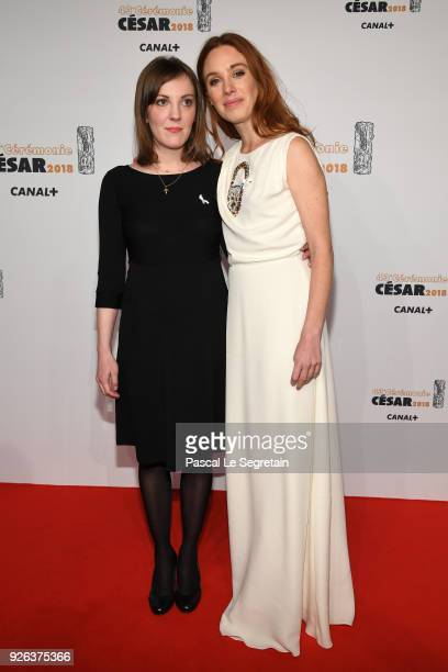 Leonor Seraille and Laetitia Dosch arrive at the Cesar Film Awards 2018 at Salle Pleyel on March 2 2018 in Paris France